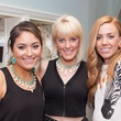 Alyssa Garcia, from left, Denise Chumlea and Kaki Ganes at the Kendra Scott opening in The Woodlands April 2014