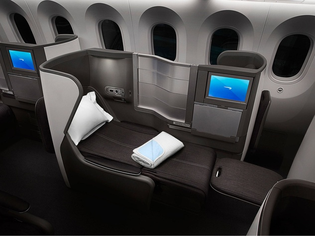 British Airways 787 dreamliner interior Club World seating