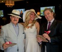 Kentucky Derby party at Mo's May 2013 Riyad Abu-Taha, Lori Gralapp Vismara, Bob Boudreaux