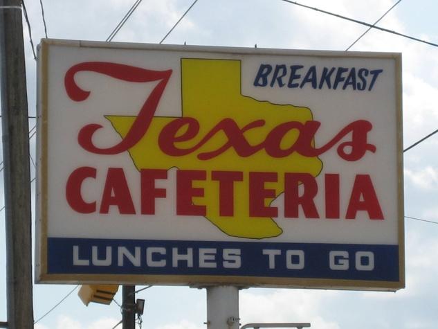 Texas Cafeteria sign