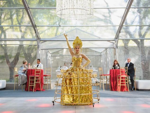 Champagne lady at Art Ball 2014