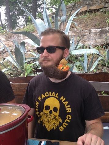 Austin Facial Hair Club with beard chips at Quesoff IV 2014