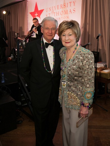 Harry and Cora Sue Mach at the University of St. Thomas Mardi Gras March 2014