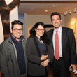 3 7179 Ernesto Alfaro, from left, Marie Rodriguez and Jamie Bennett at the reception for Jamie Bennett November 2014