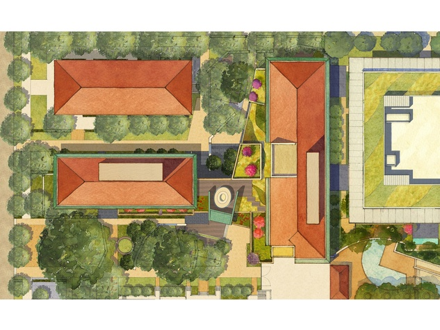 James Turrell rooftop Skyspace University of Texas at Austin plan rendering