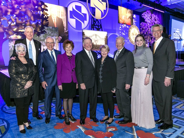 Carolyn and David Miller, Mitch and Linda Hart, Bobby Lyle, Nancy Ann Hunt, Ray Hunt, April Box Chamberlain, Dr. Stephen Mansfield, Folsom Award