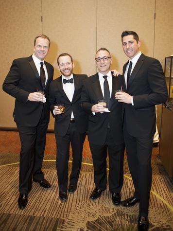 Reagan nickelson, Robert Spencer, Tony Caliendo, Erik bohdan, black tie dinner
