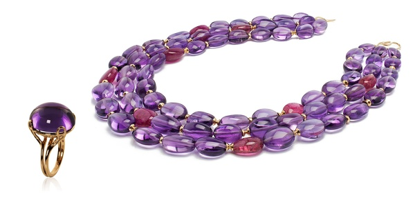 Goshwara Purple Necklace and Ring