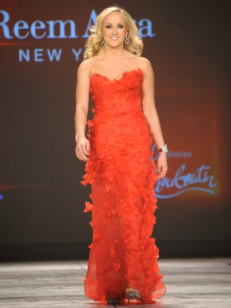 12, The Heart Truth 2013 Fashion Show, Nastia Liukin wearing Reem Acra
