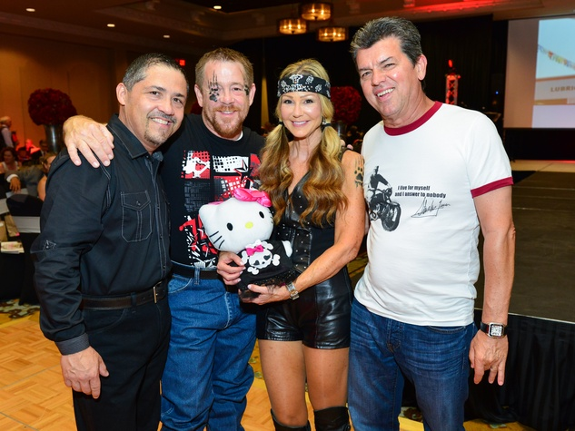 15 Bruce Padilla, from left, Shelby Kibodeaux and Patti and Don Murphy at Bad to the Bone June 2014