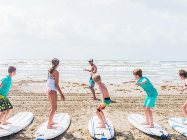 Port Aransas surfing class