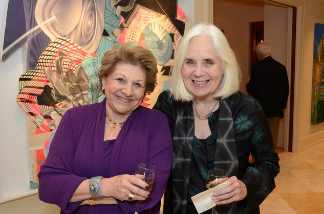 Minnette Robinson, left, and Fredricka Hunter at the MFAH Contemporary party January 2014