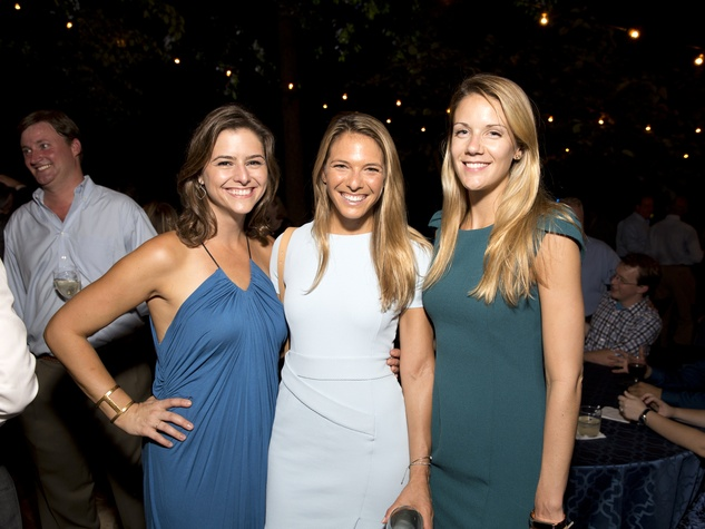 Houston, Bayou Preservation Association 50th anniversary gala, Oct. 2016, Brittany Cassin, Katie Arnoldy and Samantha Sebastian