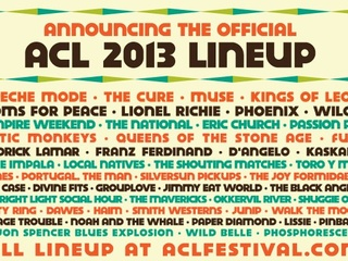 Partial lineup of 2013 ACL Fest