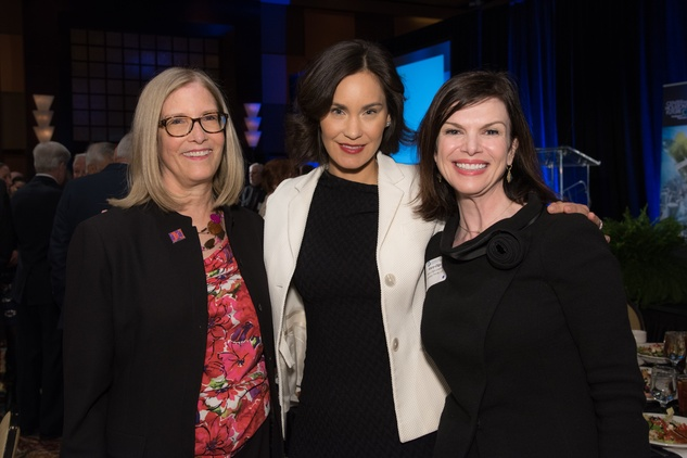 Center for Houston's Future luncheon,  March 2016, Carole Nelson, Laura Arnold, Mary Olga Lovett