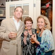 3 Ben Hoffman, from left, Joan Haskell and Alexa Hoffman at The Thread Alliance Blue Plate Special kick off April 2015