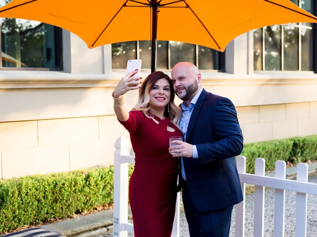 Houston, SportsMap launch party, October 2017, Eva Garcia, Hector Garcia
