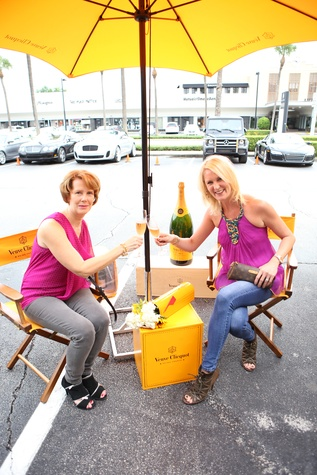 Kelsey Goddard, left, and Catherine Zaruba at Veuve Clicquot at Brasserie 19