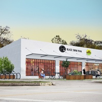 Juiceland and Black Swan Yoga Heights building rendering
