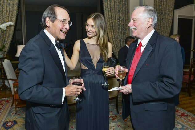 Jeff Fort, from left, Kate Barthelme and Bob Patten at the Inprint Poets & Writers Ball February 2014