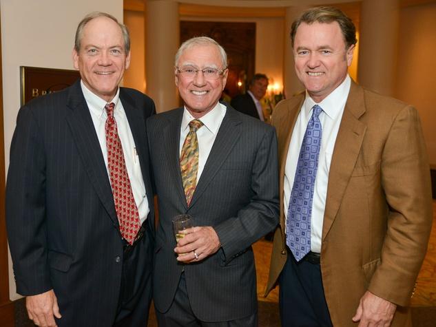 R.C. Slocum dinner, March 2013, Kerry Kilburn, Bill Dore, William Dore Jr.