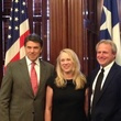 An Unreal Dream The Michael Morton Story with Rick Perry, left, with Cynthia and Michael Morton