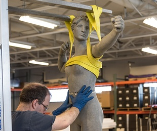 Diana restoration, Amon Carter Museum Fort Worth