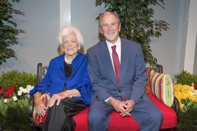 News, Tarra Gaines, Celebration of Reading, April 2015, First Lady Barbara Bush and President George W. Bush