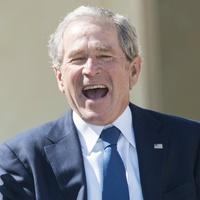 George H.W. Bush and George W. Bush at George W. Bush Presidential Center in Dallas