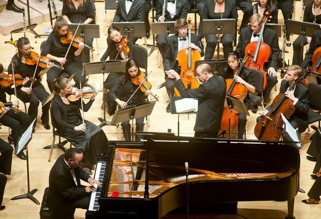 Shepherd School of Music Orchestra Larry Rachleff Jon Kimura Parker