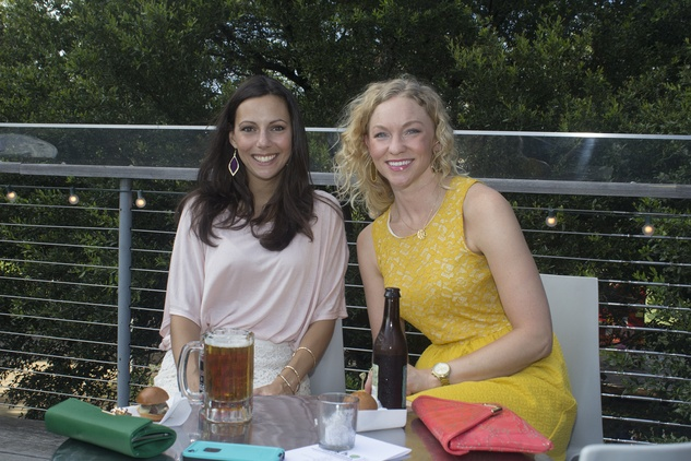 Mandy Marti, left, and Valerie Hawthorne at the f.r.e.s.h. new young professionals group party june 2014