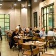 3 Dish Society Houston restaurant interior with crowd January 2014