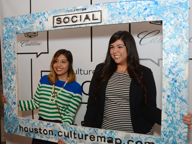 8 Monica Rodriguez, left, and Victoria Villarreal at the CultureMap Social at Gremillion and Co. Fine Art March 2015