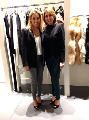 Luvi Wheelock, left, and Luvy Gonzalez at David Zyla at Atrium Ready to Wear January 2014