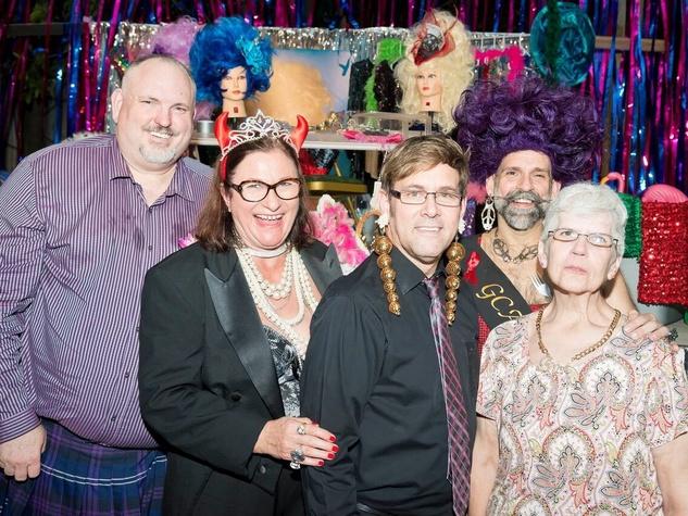 Catastrophic Theatre Drag Ball 2015 Bruce Reeves, Birgit van Wijk, Karton Howard, Elton, Judy Reaves