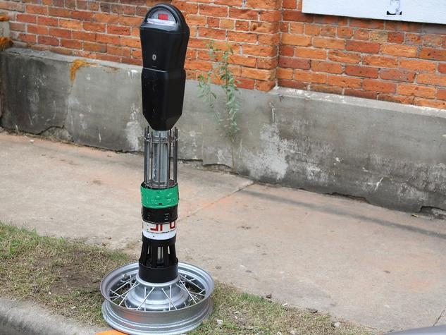9 art parking meters Houston October 2013