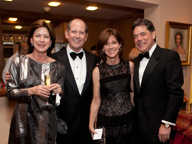 Stephanie Tucker, from left, Bill Finnegan and Molly and Ken Delery at the Rienzi Society dinner January 2014