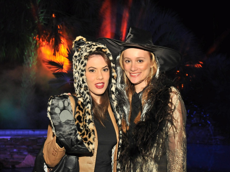 Roland Garcia annual Halloween party, October 2012, Sabra Martin, Erica Rose