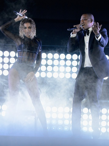 Beyonce and Jay Z Grammys January 2014