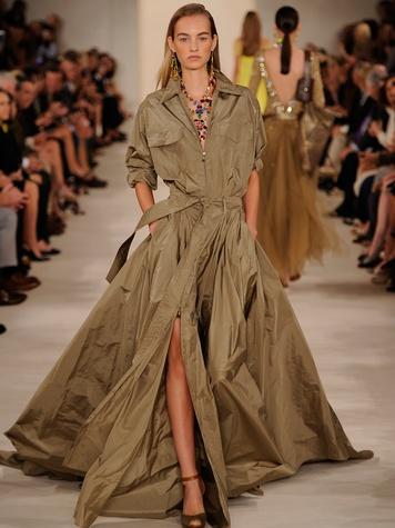 Fashion Week spring 2015 Ralph Lauren September 2014 safari coat dress