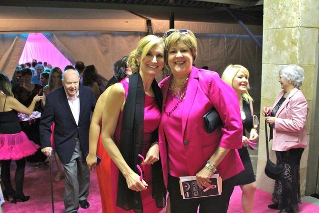 komen pink party Deb Hastings, Kate Walters