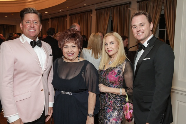 4 Brian Teichman, from left, Trini Mendenhall, Carolyn Farb and Andrew Cordes at the Gaston LeNotre Scholarship Gala February 2015