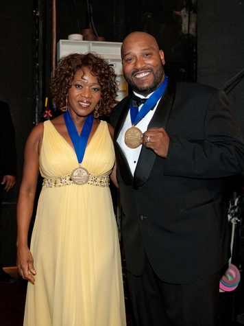 Alfre Woodard and Bun B at the ADL Houston in Concert Against Hate November 2013