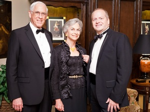 Houston Grand Opera after-party, January 2013, Dr. John Mendelsohn, Anne Mendelsohn, Patrick Summers