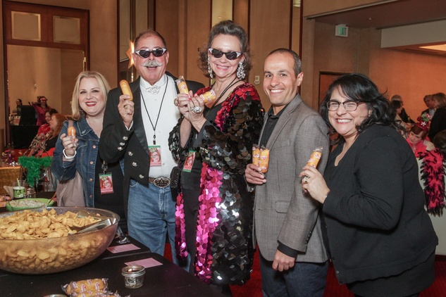 Meredith Phillip-Tcholakian, unidentified, Jill Conner Browne, Raffi Tcholakian, Adrienne Brown-Franklin at Sweet Potato Queens party