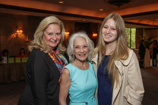 Theresa Attwell, from left, Cynthia Nordt and Mary Evans Attwell at the Houston Hospice butterfly luncheon April 2015