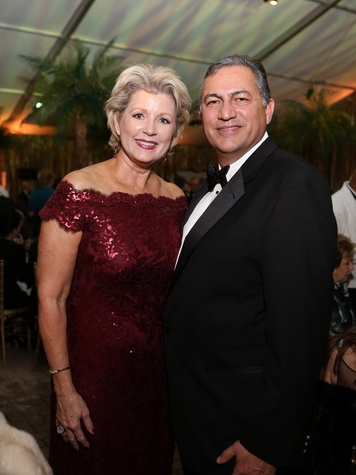 Susan and Jimmy Olguin at the Houston Grand Opera Opening Night celebration October 2013