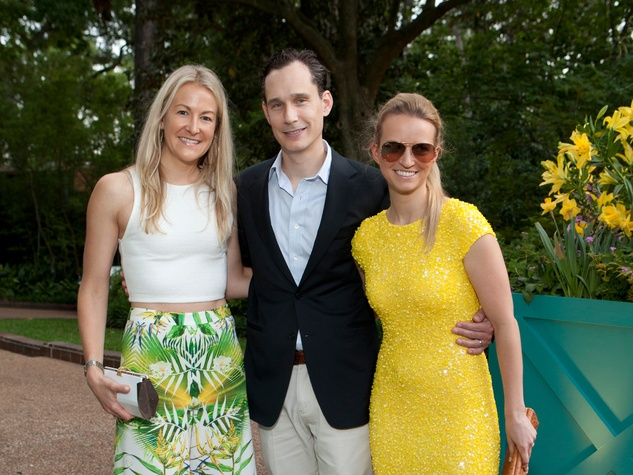 Melissa Tuckerman, from left, with Kevin and Winnie Bonebrake at the Rienzi Spring Party April 201