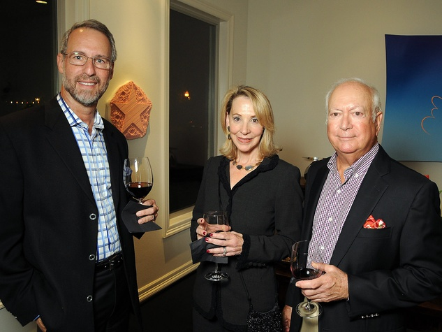 1 Milton Klein, left, with Cheryl and Stephen Golubat the Art Circle launch October 2013