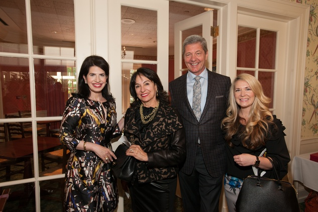 Dr. Kelli Cohn Fein, from left, Mady Kades, Bobby Dees and Misti Pace-Krahl at the Art of Conversation November 2014